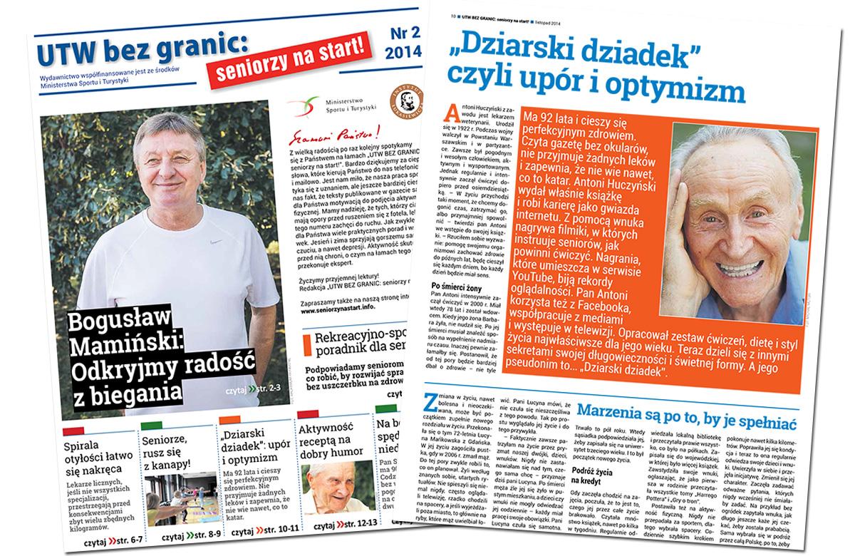 """Drugi numer """"UTW BEZ GRANIC: seniorzy na start!"""" trafił do czytelników"""